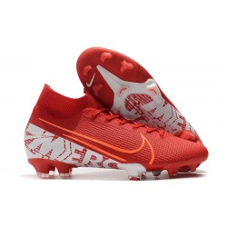 New Nike Mercurial Superfly 7 Elite FG Cleats - Red White