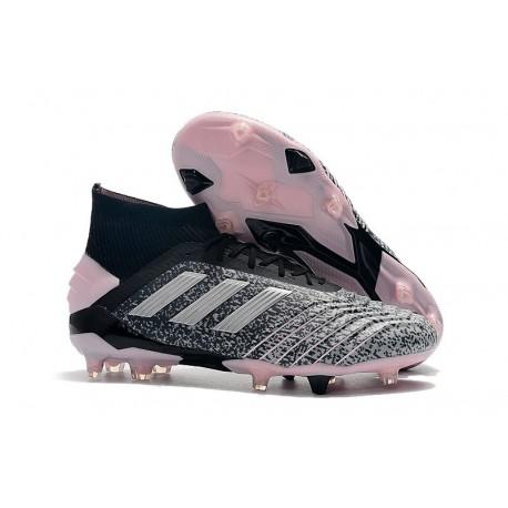 Mens adidas Predator 19+ FG Boots - Gray Pink Silver