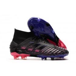 Mens adidas Predator 19+ FG Boots - Black Pink Blue