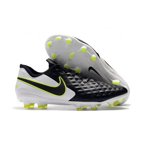 Soccer Cleats Nike Tiempo Legend VIII FG - Black White Volt