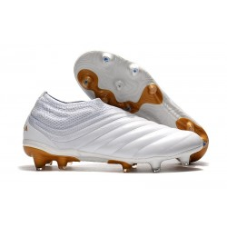 adidas Copa 19+ FG Firm Ground Soccer Boot - White Gold