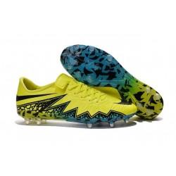 Nike Hypervenom Phinish FG Football Boots Yellow Black Blue