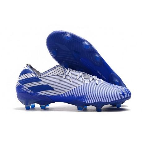 adidas Nemeziz 19.1 FG Firm Ground Cleats Blue White