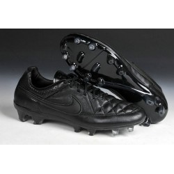 Nike Tiempo Legend V FG Kangaroo Leather Cleat All Black