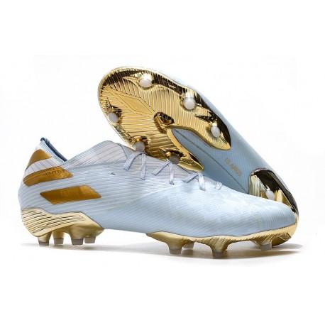 adidas Nemeziz 19.1 FG Firm Ground Cleats Bold Aqua Gold