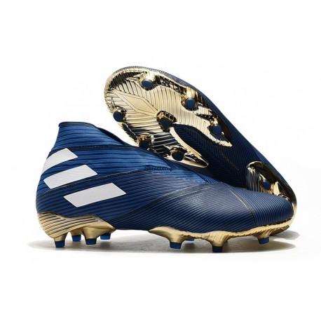 adidas Nemeziz 19+ FG Boot Blue White Solar Black